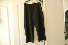 NWT Marni Italy 100% wool Cropped wide leg black pants trousers size 44