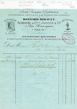 Paris Premier - Petite Entête - Publicité Afficheurs Officiels de la Ville  1890