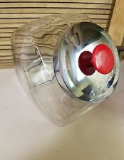 LARGE CLEAR HEAVY GLASS GENERAL STORE COUNTER TYPE CANDY COOKIE JAR CONTAINER(S)