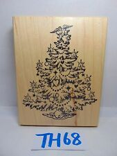 SCRAPBOOK WOOD MOUNTED RUBBER STAMP CATALOG PSX K-495 CHRISTMAS TREE DECORATED