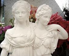Skulptur Prinzessin Frauenbüste Büste weiss Gipsfigur Statue Shabby Handarbeit