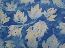 Designers Guild Fabric 'Fresco Leaf' 2 METRES Indigo (200cm) 100% Cotton