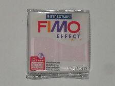Pain de pâte fimo effect rose quartz (translucide/nacrée) N°206, poids:57g