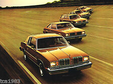1979 OLDSMOBILE Brochure/Catalog w/ Color Chart: CUTLASS SUPREME,OMEGA,STARFIRE,