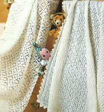 Baby Shawl Blanket Knitting & Crochet Pattern 3ply & 4ply. 143