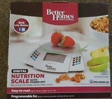 Better Homes & Gardens programmable nutritional scale w/memory function.