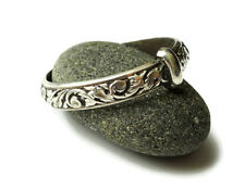 Scottish Thistle Band - Sterling Silver - Celtic Sporran Key - Outlander - Ring