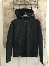 NWT $599 BARBOUR FRANCIS LEON STREAK QUILT HOOD BOMBER JACKET BLACK UK 10 US 6