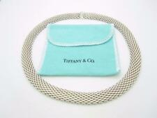 """Tiffany & Co. Sterling Silver Somerset Mesh Necklace 17"""""""