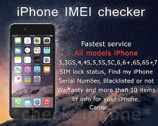 IPHONE CHECK IMEI - CARRIER - SIMLOCK - WARRANTY - FMI - ICLOUD - BLACKLIST