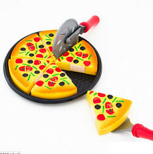 Childrens Kids Pizza Slices Toppings Pretend Kitchen Role Play Food Toy Gift