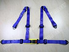 HIGH QUALITY SPORTS RACING HARNESS SEAT BELT 3 4 POINT FIXING MOUNTING BLUE