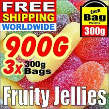900g = 2 Lbs FRUITY JELLIES. Birthday Candy Sweets Present Free Ship Worldwide