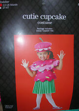CUTIE CUPCAKE  HALLOWEEN COSTUME  or DRESS UP        TODDLER 12-18MO        NEW