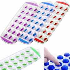EASY POP OUT SHAPE ICE 21 CUBE TRAY CHOCOLATE JELLY PUDDING MAKER SILICONE MOULD