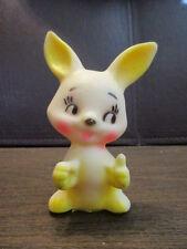 Vintage Soft Rubber Squeak Toy - Bunny Rabbit