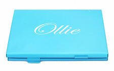Blue Business Name Card Holder ID Credit Card Case Fine Box Holder