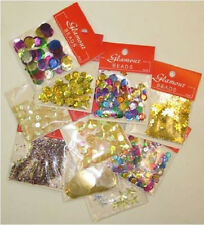 YELLOW PARTY MIX Sequins Easter jewellery learn to bead arts DIY crafts 10pk NEW