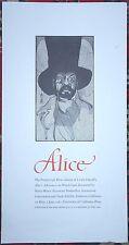 BARRY MOSER Broadside Alice in Wonderland MAD HATTER Pennyroyal Press 1982 b