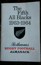 082 il quinto All Blacks 1963-1964 RUGBY FOOTBALL Almanacco sponsorizzato da ROTHMANS