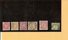Th&T / HECHINGEN 6 feinst-Kabinett-Stücke, dabei K1 a. Pr. 24, 26a, NDP 9,