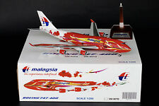 "Malaysia Airlines 747-400 ""Hibiscus"" Reg 9M-MPB JC Wings 1:200 Diecast BBOX2526"