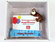 NEW GUND Bear Motion Activated Happy Birthday Picture Frame 4X6 Music Box
