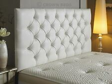 New diamante faux leather headboard in 3ft,4ft,4ft6,5ft,6ft with free delivery