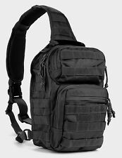Military Style Tactical Bug Out Sling Go Bag Backpack Hunting Molle Police Black