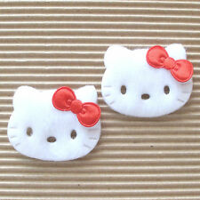 "US SELLER - 40 pc x (1 5/8"") Felt Padded Kitty Appliques w/Satin Bow/Hello ST614"