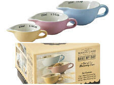 Mason Cash Bake My Day set of 3 measuring cups pastel coloured baking measures