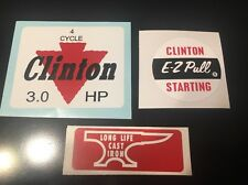 Clinton engine decal set  4 Cycle 3-hp E-Z Pull Anvil Set 3