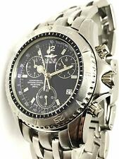 Sector 650 Mens Chronograph Stainless Steel Sapphire Crystal Black Swiss Watch