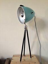 1950s German Retro Blue Table Floor Lamp - Light Vintage Mid Century Modern