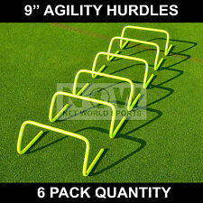 "6qty AGILITY HURDLES 9"" Football Rugby Agility Training [Net World Sports]"