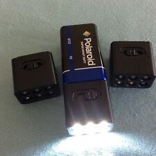 3x Blocklite 9v,6LED Flashlight Torch,1x9v battery-Blackout, car, pocket, purse