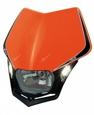 Verkleidung Scheinwerfer Moto Universal Rtech V-face LED Orange KTM Headlight