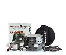 Volcano 3 Fuel Portable Propane Collapsible Outdoor Grill Camping Stove 20-300