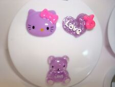 Hello Kitty Purple Head and Bear Compact Mirror Makeup Mirror