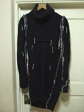 Maison Martin Margiela H&M MMM Navy Oversized Darted Knitted Dress M Uk 12 USA 8