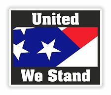 Sticker United we Stand USA  America Flag Door Laptop Tablet PC Locker Hard Hat