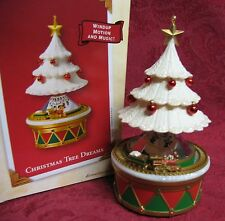 HALLMARK 2003 WIND-UP MOTION ORNAMENT ~ CHRISTMAS TREE DREAMS
