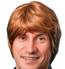 Mens Short Brown Wig Justin Bieber Geek Nerd Stag Do Night Fancy Dress