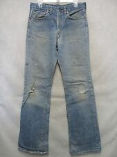 A6274 Levi's 517-0217 USA Made Grunge Blackstitch Jeans Men 33x33