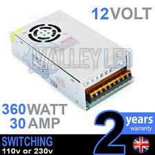 12v Dc 360 W 30a 230v 110v Switching Power Supply Para Tira De Led Controlador Cctv