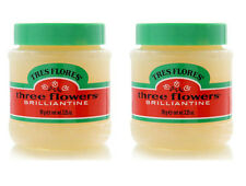 2 pack of Tres Flores Three Flowers Brilliantine hair Pomade 3.25 oz