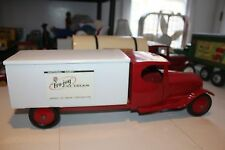 VINTAGE 1930'S PRESSED STEEL   STEELCRAFT  FRO JOY PRIVATE LABEL ICE CREAM TRUCK