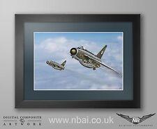 Framed English Electric F.2A Lightning, 92 Sqn RAF Gutersloh Digital Art Print