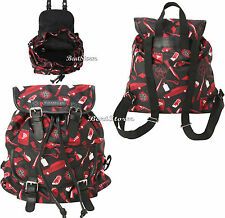 Supernatural Sam Dean SymboIs Icons Red Black Slouch Buckle Book Bag Backpack