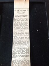 72-9 Ephemera 1951 Article Mr J W Stevens Birchington Royal Navy Audacious